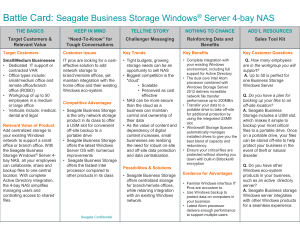 Battle Card: Seagate Business NAS Family