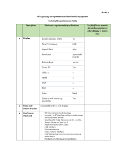 Annex 3 - Technical Responsiveness Table