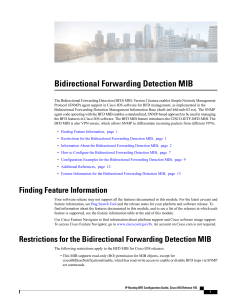 Bidirectional Forwarding Detection MIB