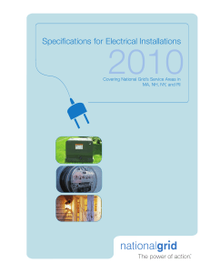 Information and Requirements for Electrical Service