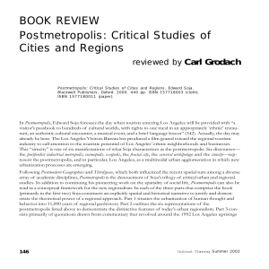 Critical Studies of Cities and Regions