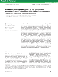 specificity of low pH and aluminum responses