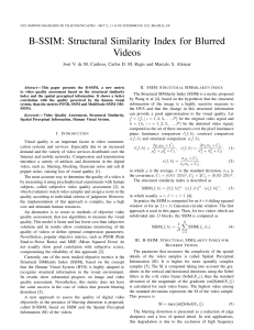 B-SSIM: Structural Similarity Index for Blurred Videos