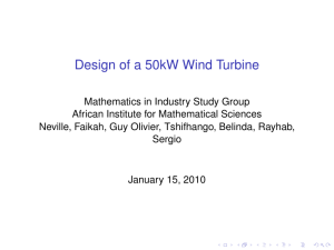 Design of a 50kW Wind Turbine