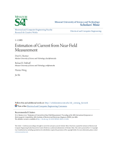 Estimation of Current from Near-Field Measurement