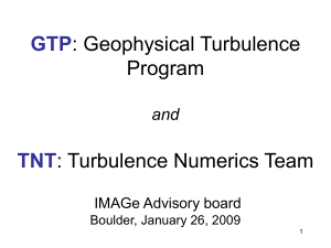 Geophysical Turbulence Program