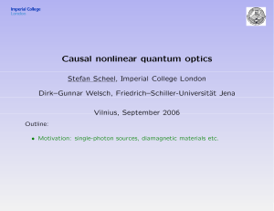 Causal nonlinear quantum optics