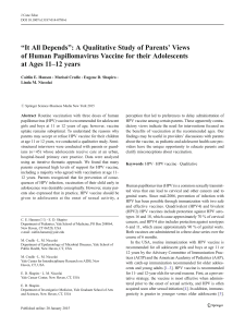 """It All Depends"": A Qualitative Study of Parents` Views of Human"
