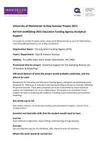 University of Manchester Q-Step Summer Project 2015 Ref #14