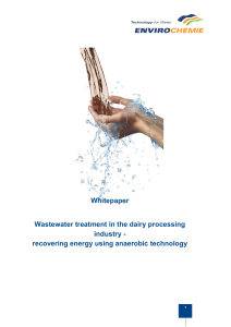 Whitepaper Wastewater treatment in the dairy