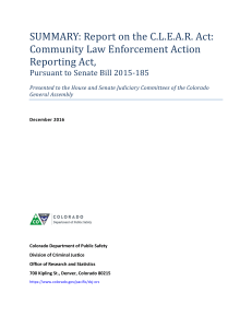 Summary: Report on the C.L.E.A.R. Act: Community Law