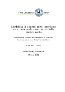 Modeling of mineral-melt interfaces: an atomic scale view on
