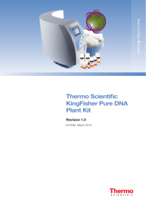 KingFisher Pure DNA Plant Kit