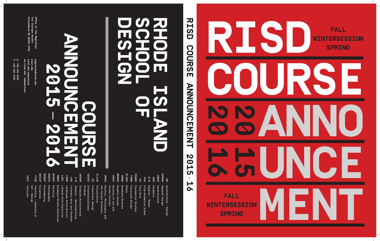 Rhode Islandschool Of Design Courseannouncement 2015
