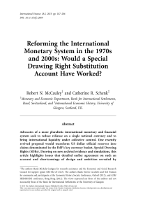 Reforming the International Monetary System in the 1970s and 2000s