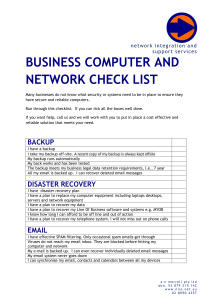 business computer and network check list