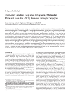 The Locus Ceruleus Responds to Signaling Molecules Obtained