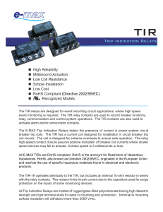 Trip Indication Relays - E