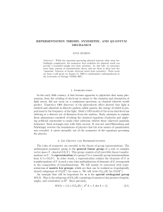 Representation Theory, Symmetry, and Quantum