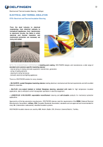 ELECTRICAL AND THERMAL INSULATION