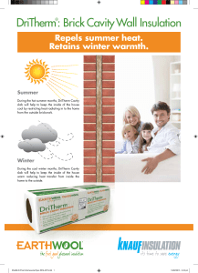 DriTherm®: Brick Cavity Wall Insulation