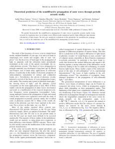 Theoretical prediction of the nondiffractive propagation of sonic