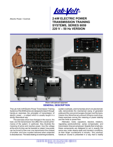 2-kW Electric Power Transmission Training Systems - Lab-Volt