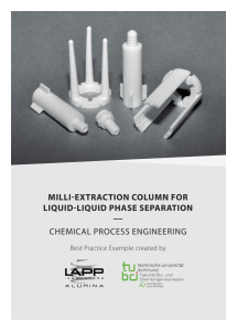 milli-extraction column for liquid-liquid phase separation