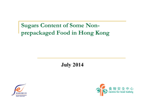 Presentation on the Sugars Content of Some Non