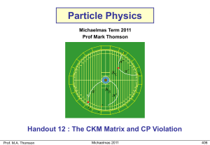 The CKM Matrix and CP Violation