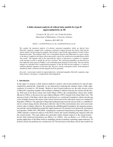 A finite element analysis of critical state models for type