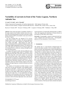 Variability of currents in front of the Venice Lagoon, Northern Adriatic