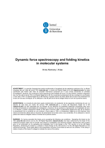 Dynamic force spectroscopy and folding kinetics in molecular systems