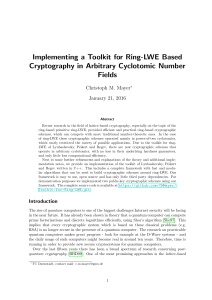 Implementing a Toolkit for Ring