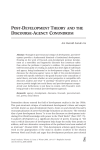 Post-DeveloPment theory anD the Discourse-agency