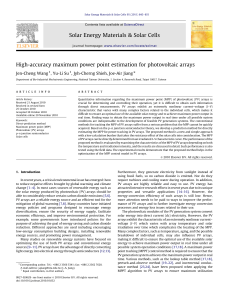 High-accuracy maximum power point estimation for photovoltaic