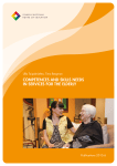 Competences and skills needs in services for the elderly
