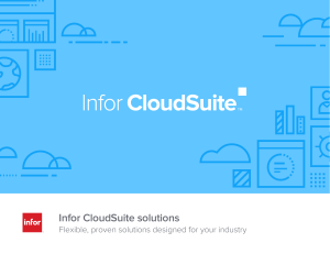 Infor CloudSuite solutions