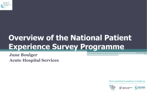 National Patient Experience Survey Programme