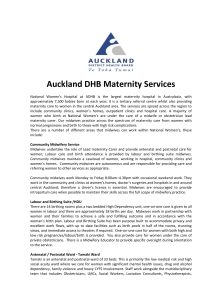 Auckland DHB Maternity Services