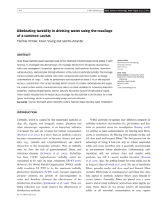 Eliminating turbidity in drinking water using the mucilage of a