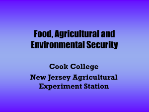 Food, Agricultural and Environmental Security