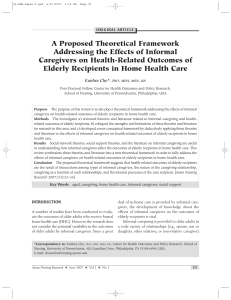 A Proposed Theoretical Framework Addressing the Effects of