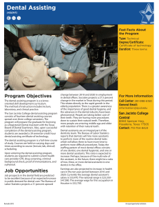 Dental Assisting - San Jacinto College