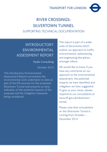 Silvertown Tunnel introductory environmental assessment report
