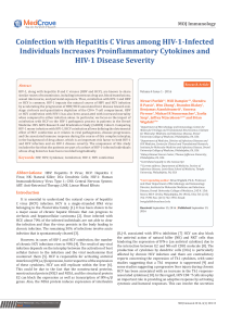 Coinfection with Hepatitis C Virus among HIV-1