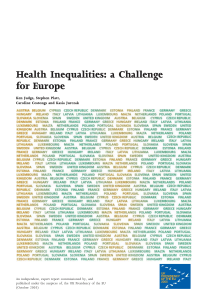 Health Inequalities: a Challenge for Europe