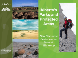 Alberta`s Parks and Protected Areas