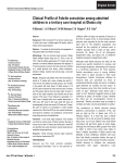Clinical Profile of Febrile convulsion among admitted children in a