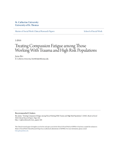 Treating Compassion Fatigue among Those Working With
